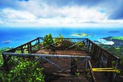 Betrachtung plattform in der Höhe von Mahé auf den Seychellen Lizenzfreies Stockfoto