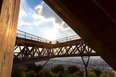 Betrachtungsplattform Koblenz Deutschland stockbild