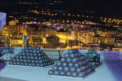Betrachtungsplattform nahe Palace des Prinzen bei Monaco stockbild