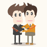 Betrayal, business man illustration. Royalty Free Stock Photo