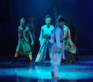 Betrayal-The dance drama The legend of the Condor Heroes. In December 2, 2014, a large Chinese dance drama the legend of the Condor Heroes for the first time to Royalty Free Stock Photography