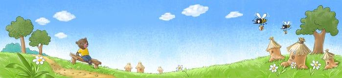 Betreffen Sie den Rasen Lizenzfreie Stockbilder