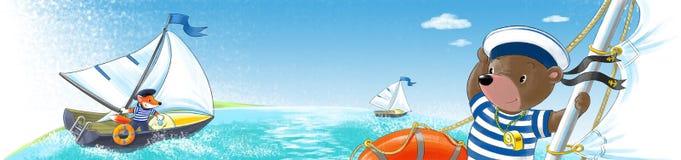 Betreffen Sie die Yacht Lizenzfreie Stockbilder