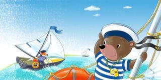 Betreffen Sie die Yacht Lizenzfreies Stockfoto