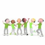 Betreiber bisness Call-Center-Grün Lizenzfreies Stockbild