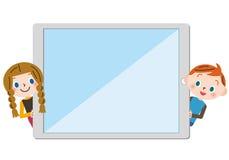 Betreibt eine Tablette Lizenzfreies Stockbild