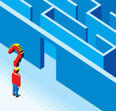 Betreten des Labyrinths 3D Lizenzfreies Stockfoto