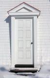 Betreten Sie die weiße Tür stockbilder