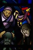 Betreyal του Ιησού: ο κόκκορας στο λεκιασμένο γυαλί Στοκ εικόνες με δικαίωμα ελεύθερης χρήσης