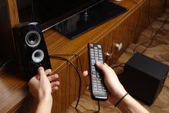 Betrieb des Fernsehens Lizenzfreies Stockbild