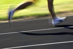 Betrieb eines Rennens Stockfotos