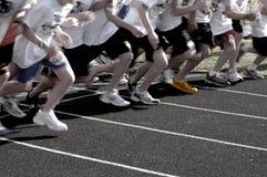 Betrieb eines Rennens lizenzfreie stockfotos