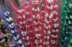 Betriebs- und der Blumetrockene Zusammensetzung lizenzfreie stockfotografie