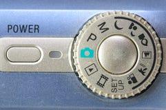 Betriebsart-Vorwahlknopf-Knopf Stockbilder