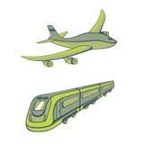 Betriebsarten des Transportes stock abbildung