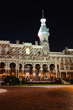 Betriebsmuseum in Tampa nachts Stockbild