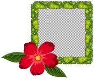Betriebsrahmendesign mit roter Blume Stockfoto