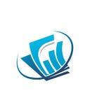 Betriebsversicherungszusammenfassung des Buchhaltungslogodesigns 3 Lizenzfreie Stockbilder