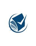 Betriebsversicherungszusammenfassung des Buchhaltungslogodesigns 6 vektor abbildung