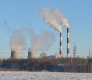 Betriebswärmekraftwerk Stockbild