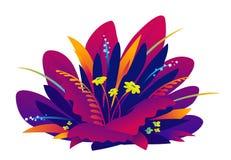 Betriebszusammensetzung in den violetten gesättigten Farben stock abbildung
