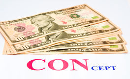 Betrogen: verlorenes Geld. lizenzfreie stockfotografie