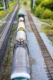 Betrouwbaarheid van de de Vracht de Veilige Snelle levering van de treinspoorweg stock foto