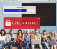 Betrug, der Konzept Spam-Scams Phising zerhackt Lizenzfreie Stockbilder