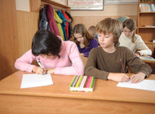 Betrug in der Schule Stockbilder