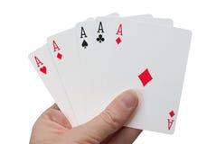 Betrug - fünf Asse Stockfotos