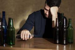 Betrunken und allein Stockbilder