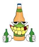 Betrunkene Flaschenkarikatur Stockfotografie