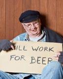 Betrunkener Bettler stockbild