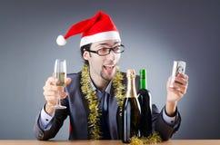 Betrunkener Geschäftsmann nach Weihnachtsfest Lizenzfreie Stockfotografie