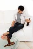 Betrunkener Mann Stockfoto