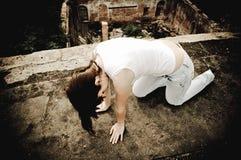 Betrunkenes junges Mädchen Lizenzfreie Stockfotos