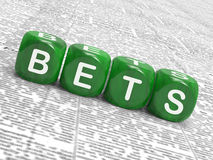 Bets Dice Show Gambling Chance Or Sweep Stake Stock Photography