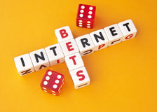 Bets on internet Stock Photo
