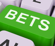 Bets Key Shows Online Or Internet Gambling Stock Images