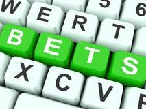 Bets Keys Show Online Or Internet Betting. Bets Keys Showing Online Or Internet Betting royalty free illustration