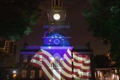 Betsy Ross标志的投影 免版税库存图片