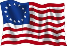 Betsy Ross flag Stock Photo