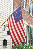 Betsy Ross Flag, Antique. Betsy Ross flag was the first flag of the United States having thirteen stars in a circle representing a new constellation Stock Image