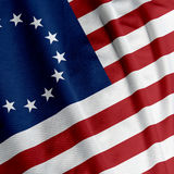 Betsy Ross Flag Closeup. Closeup of the Betsy Ross flag, square image stock images