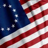 Betsy Ross Flag Closeup Stock Afbeeldingen