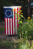 Betsy Ross Flag. A Betsy Ross flag, the first official flag of the United States, being used as a patriotic yard and garden decoration Stock Photography