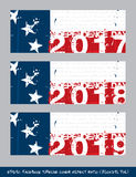 Betsy Ross Flag Independence day timeline cover - Artistic Brush. Vector illustration. Betsy Ross Flag Independence day timeline cover - Artistic Brush Strokes royalty free illustration