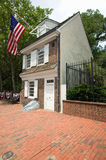 The Betsy Ross House. On East Third Street, Philadelphia, Pennsylvania, where Betsy Ross created first American flag in 1778 stock image
