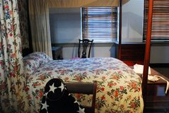 Interior, Betsy Ross House. The Betsy Ross House has confronted the legitimacy of the Ross legend stating she sewed the first American flag. The Museum presents Stock Images