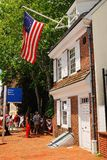 Betsy Ross House, Philadelphia. The Betsy Ross House in Philadelphia was always considered the home of the seamstress that completed the first American flag. It Stock Image